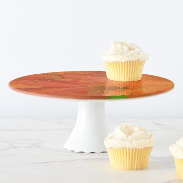 Halloween Themed Fall Leaves Cake Stand