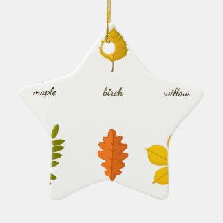 fall leaves ceramic ornament