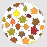Fall Leaves Classic Round Sticker