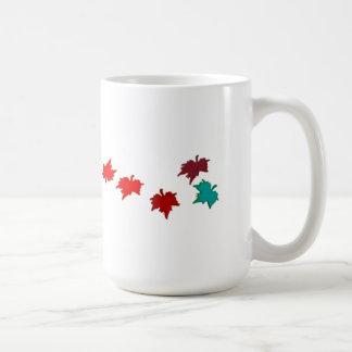 Fall Leaves Classic White Coffee Mug
