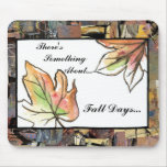 Fall Leaves Collage Mousepads
