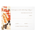 Fall Leaves Collage RSVP Card Wedding Invite