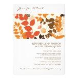 Fall Leaves Collage Wedding Invitation
