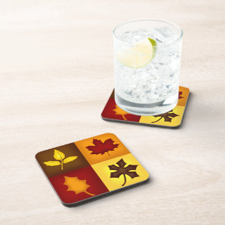 Fall Leaves Cork Coasters - Set of 6