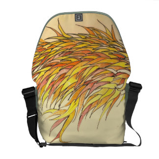 Fall leaves courier bag
