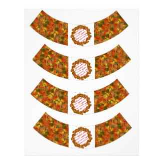 Fall Leaves Cupcake Wrapper