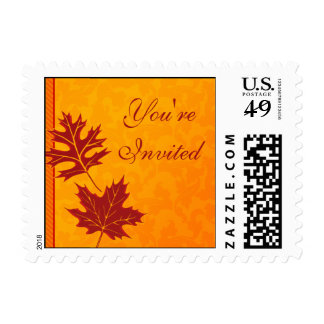 Fall Leaves Customizable Postage