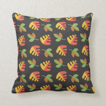 fall leaves cutumn leaves throw pillow