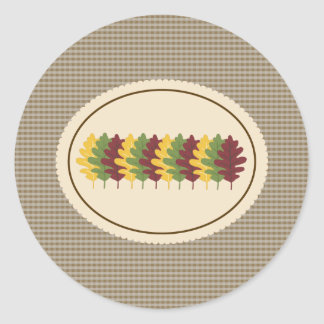 Fall Leaves Envelope Seals Stickers