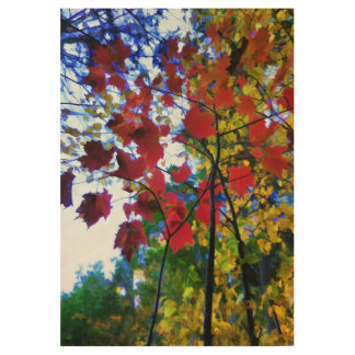 Fall leaves fall wood poster