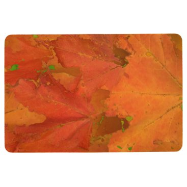 Halloween Themed Fall Leaves Floor Mat