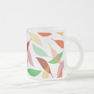 Fall Leaves for Autumn Frosted Glass Coffee Mug