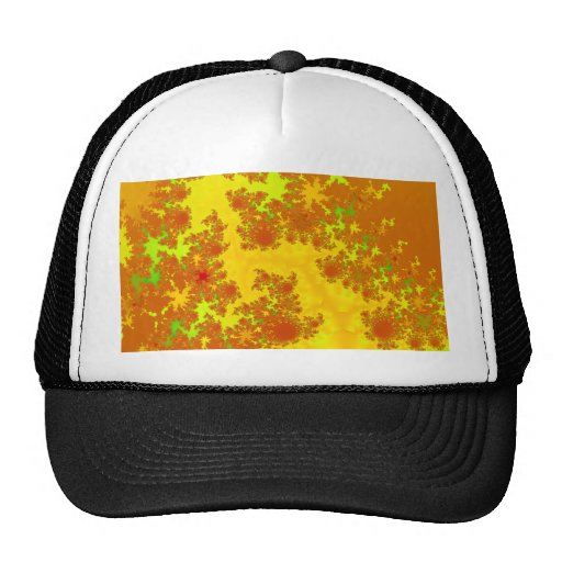 Fall Leaves Fractal. Abstract Art. Hat