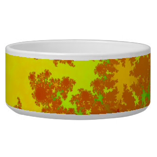 Fall Leaves Fractal. Decorative Abstract Art. Bowl