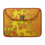 Fall Leaves Fractal. Decorative Abstract Art. MacBook Pro Sleeves