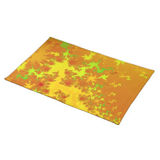 Fall Leaves Fractal. Decorative Abstract Art. Placemats
