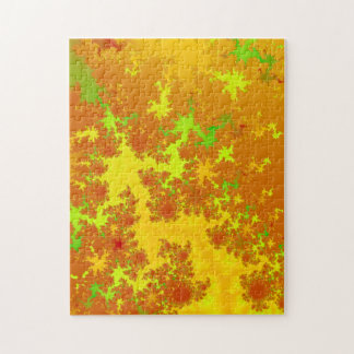 Fall Leaves Fractal. Decorative Abstract Art. Puzzles