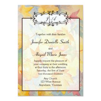 Fall Leaves Gay Wedding Invitation