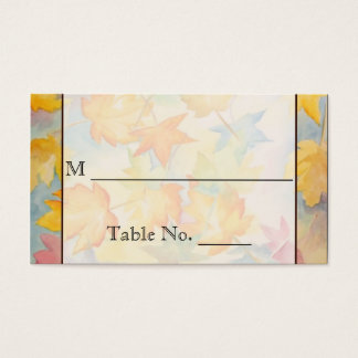 Fall Leaves Gay Wedding Place Cards