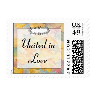Fall Leaves Gay Wedding Stamp