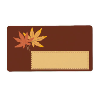 Fall Leaves Gift Tag Shipping Labels