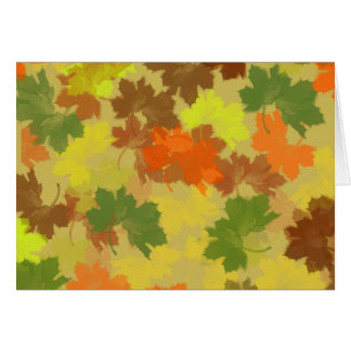 Fall Leaves - Golden Background Card