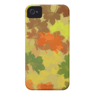 Fall Leaves - Golden Background iPhone 4 Cases