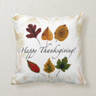 Fall Leaves Happy Thanksgiving Custom Pillow