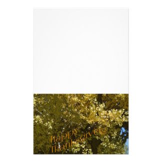 Fall Leaves Happy Thanksgiving Stationery
