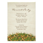 Fall Leaves Harvest Party Invitations