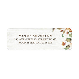 Fall Leaves Harvest Wedding Label