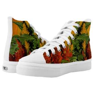 Fall Leaves High top Tennis shoes