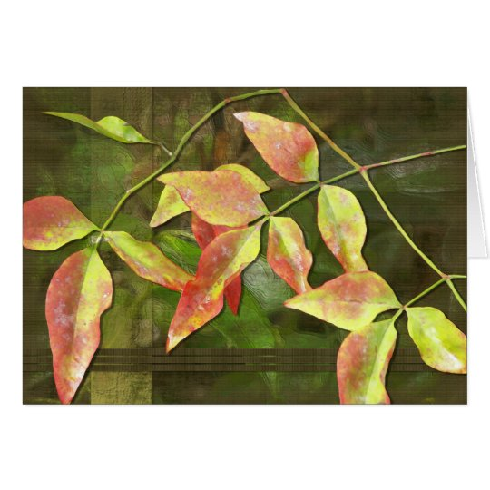 Fall Leaves in Summer Card