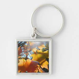 Fall Leaves in The Light Keychain