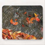 Fall Leaves in Waterfall I Autumn Photography Mouse Pad