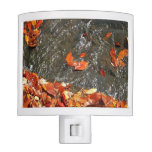 Fall Leaves in Waterfall I Autumn Photography Night Light