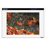 """Fall Leaves in Waterfall I Autumn Photography Skins For 15"""" Laptops"""