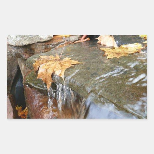Fall Leaves in Waterfall Sticker