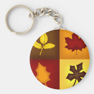 Fall Leaves Key Chain - Red, Orange, Yellow, Brown