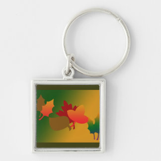 Fall Leaves Keychain