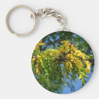 Fall Leaves Basic Round Button Keychain