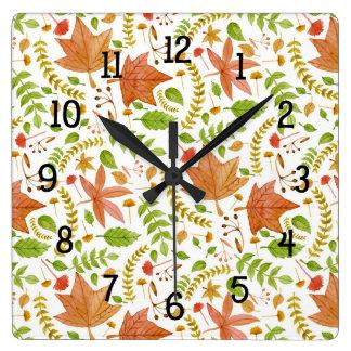 Fall leaves kitchen wall clock / autumn decor