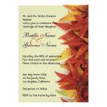 Fall Leaves l Autumn Wedding Invitation Custom Invite