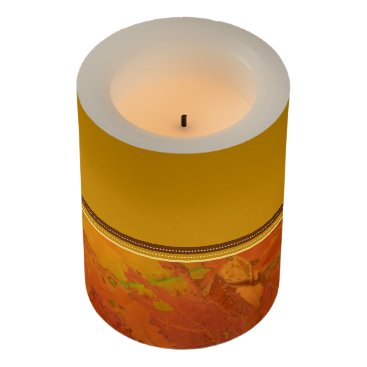 Halloween Themed Fall Leaves LED Candle