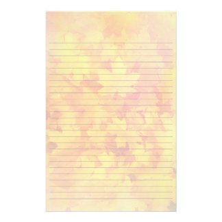 Fall Leaves Lined Writing Paper