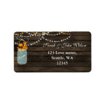 fall leaves mason jar address label