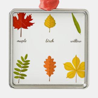 fall leaves metal ornament