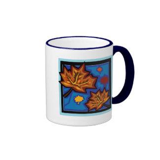 Fall Leaves Ringer Coffee Mug