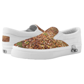 Fall Leaves on Ground-Autumnal Equinox Slip-On Sneakers