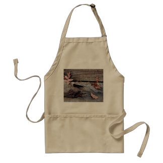 Fall Leaves on Old Wood Aprons